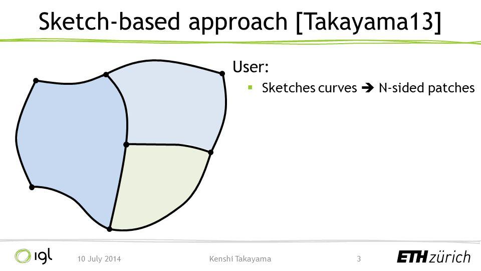 Sketch-based approach [Takayama13]